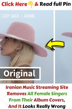 #IranianMusicStreamingSiteRemovesAllFemaleSingers #FromTheirAlbumCoversAndItLooksReallyWrong Music Streaming Sites, Music Sites, Funny Pins, Funny Stuff, Cool Stuff, Lady Gaga Joanne, Cool Pins, Famous Celebrities, Female Singers