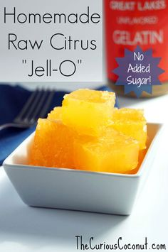 "Easy, Healthy, Homemade NOT ""Jell-O"" Gelatin Snack"