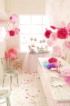 pink kids party ideas