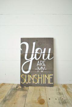 You Are My Sunshine Reclaimed Wood Wall Sign Sugar And Cream Yarn, Wall Decor, Wall Art, You Are My Sunshine, Wall Signs, Dyi Signs, Wooden Signs, Diy Art, Creative