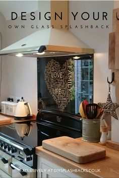 We believe kitchens are the heart of the home. So what if you could design something completely unique to your family and home? Our exclusive WordArt Design Tool allows you to design a completetely bespoke glass splashback or wall art.