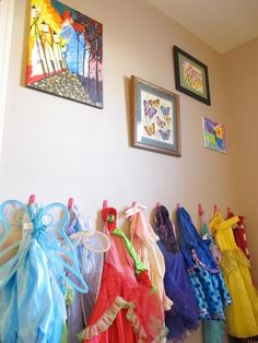 Girls Room- Dress up and gallery wall