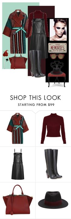 """""""These memories make me smile...."""" by zabead ❤ liked on Polyvore featuring Fendi, Alice + Olivia, MM6 Maison Margiela, Bebe, Christopher Guy, Maison Michel and CÉLINE"""