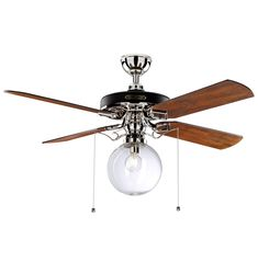 smartness ideas rustic ceiling fans with lights. Heron Ceiling Fan With Clear Globe Shade Polished Nickel Finish with Fumed  Oak Blades A3045 52 Punched Metal Crystal 5 Blade Remote 6 Lights