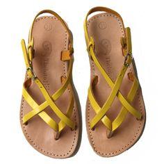 Theluto sandalen Dan geel (maat 30-35)