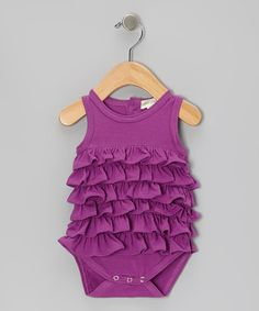 Take a look at this Orchid Ruffle Organic Bodysuit - Infant by violet + moss on #zulily today!