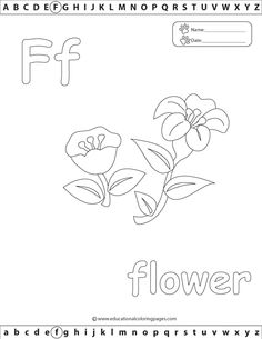 Alphabet Coloring Pages Set 2 | Coloring Pages F