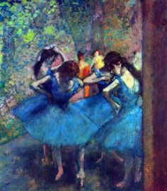 Another Degas which I LOVE. This reminds me of what it was like backstage before dancing in a ballet performance.