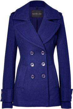 Rachel Zoe Royal Blue Woolblend Fay Pea Coat in Blue - Lyst
