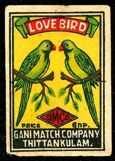 Indian Match Box Label, 1950s.