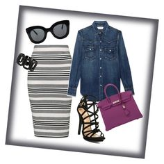 """purple"" by mrsharvey44 on Polyvore featuring Topshop, Yves Saint Laurent, Hermès, CÉLINE and Rebecca"
