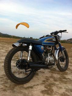 cg125 Cg 125 Cafe Racer, Cafe Racer Honda, Cafe Racer Bikes, Tracker Motorcycle, Motorcycle Types, Custom Bikes, Custom Cars, Honda Cg125, Mini Cafe