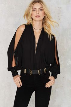 Nasty Gal Florence Plunging Bodysuit | Shop Clothes at Nasty Gal!