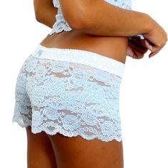 ea6bba8009905 Light Blue Lace Boxers - Bluestockings Boutique - 1 Valentines Lingerie