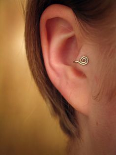 Ronin  2in1 Tragus Cuff style 'A' silver spiral ear by ZyDesigns, $12.00