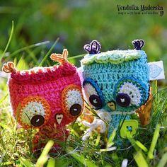 Crochet baby owl ornament - pattern/ e-book