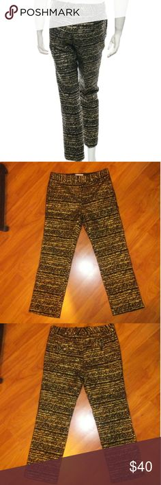 3.1 Phillip Lim Jacquard Pants Metallic Gold 3.1 Phillip Lim Pants Ankle & Cropped