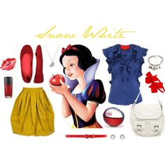 A fashion look from October 2011 featuring blue shirt, high-waisted skirts and red shoes. Browse and shop related looks.