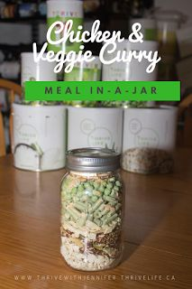 This curry is so simple my kids can make it! I love how easy it is to make meals in a jar and have them on hand for crazy nights! This recipe is great served over rice or with naan bread. Crazy Night, Thrive Life, Meals In A Jar, Quick Dinner Recipes, Naan, Stir Fry, Chicken Recipes, Mason Jars, Curry