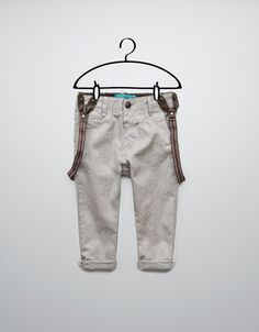 Zara Baby Light Grey Trousers With Braces Detail Size 3-6 Month