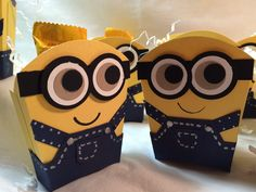 "Welcome to my video tutorial making this cute Stampin UP! Bob the Minion Fry Box! I used these boxes for Halloween treats, but wouldn't this be cute for a ""M..."