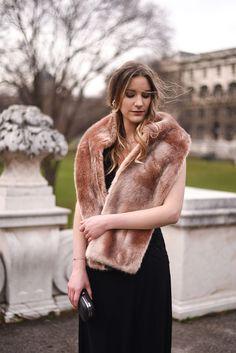 7 Ways To Wear: Long Black Dress - Glittery Peonies Trends, Long Black, Elegant, Fur Coat, How To Wear, Jackets, Dresses, Fashion, Gowns