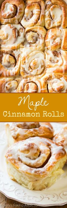 maple cinnamon rolls