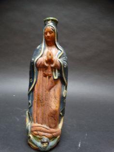 :D❤️Mexican Tlaquepaque Virgin of Guadalupe Bottle