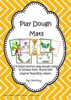 Fourteen beautiful play dough mats to use with young children, some with original TeachEzy clipart. Print and laminate. Great for fine motor skills and letter of the week.