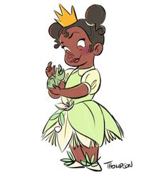 Disney Tiana I don't kiss frogs. Walt Disney, Cute Disney, Disney Girls, Disney Magic, Aurora Disney, Disney Artwork, Disney Fan Art, Disney Sketches, Disney Drawings