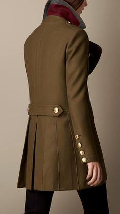 Oversize Felted Wool Coat | Burberry - Too bad I will never spend that much for a piece of clothing :(