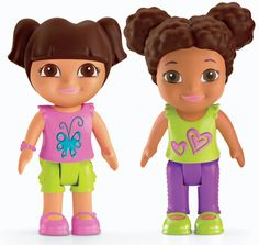 Fisher-Price Dora The Explorer Playtime Together Dora and Me Play Dates : Dora and Brown Hair Friend