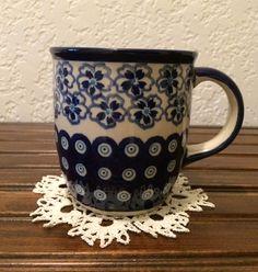 Polish Pottery Coffee Mug by MimisMiniMarketplace on Etsy