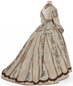 Les Arts Décoratifs - Site officiel - Diaporama - Robe en deux parties, France, vers 1860