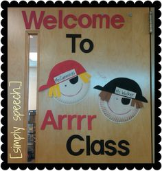Welcome To Arrr Class Pirate Door Decoration - Youngi Sites Preschool Pirate Theme, Pirate Activities, Preschool Classroom, Classroom Themes, Preschool Crafts, Preschool Door, Toddler Crafts, Pirate Bulletin Boards, Pirate Door