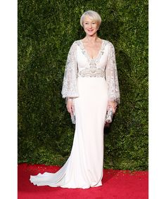 Helen Mirren in Badgley Mischka.