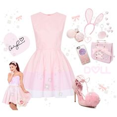 ♡ Sweet Like Candy BubbleGum Pink Look #2 ♡ by kaylalovesowls on Polyvore featuring Topshop, Privileged, Casetify and LULU