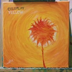 coldplay yellow Coldplay, Artsy, Yellow, Drawings, Painting, Sketches, Painting Art, Paintings, Drawing