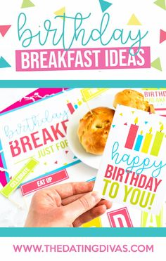 Show your sweetheart a little extra love with these adorable birthday breakfast ideas! FREE printables include a placemat, note, food flags, menu, and more! Best Birthday Gifts, Friend Birthday, Birthday Fun, Birthday Party Themes, Birthday Ideas, Birthday Desert, Birthday Traditions, Birthday Breakfast, Sweet Messages