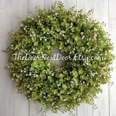 Eucalyptus Wreath - Babys Breath