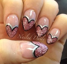 Nailed Daily Glitter Heart