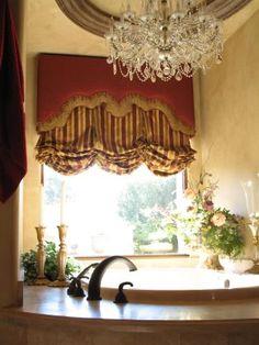 Beautiful #bathroom with #chandelier
