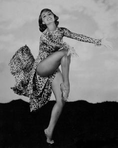 Cyd Charisse -  dance to the rhythm of your life! Because it is the only one you have, who cares if your dancing is ridiculous...I don't ;)