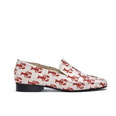 LOLA LOAFER JACQUARD - Lobster Luxury woven jacquard loafers with leather insole.