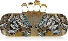 Another amazing piece by Mc.Queen. Dragonflies. Sap green undertones. Turquoise Blue.