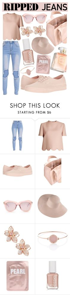 """Ripped Jeans"" by angelinapurplerose ❤ liked on Polyvore featuring Valentino, Vans, Corto Moltedo, Karen Walker, NAKAMOL, Michael Kors, Lapcos and Essie"