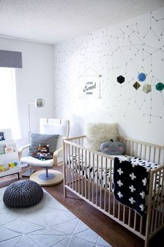 Stars can look totally modern, too! | New Nursery Tour by Jen Loves Kev Liapela.com
