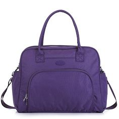 Purple Close Plaid Travel Carry-on Luggage Weekender Bag Overnight Tote Flight Duffel In Trolley Handle