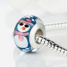 Original Silver Plated Snowman Murano Glass Bead Fit Pan Bracelet Necklace Authentic Christmas Element $2.79   => Save up to 60% and Free Shipping => Order Now! #fashion #woman #shop #diy  http://www.rodjewelry.com/product/original-silver-plated-snowman-murano-glass-bead-fit-pan-bracelet-necklace-authentic-christmas-element/