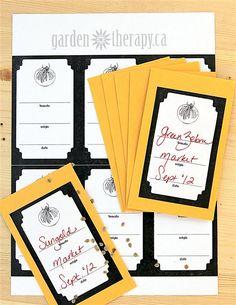Free Printable Seed Envelope Labels